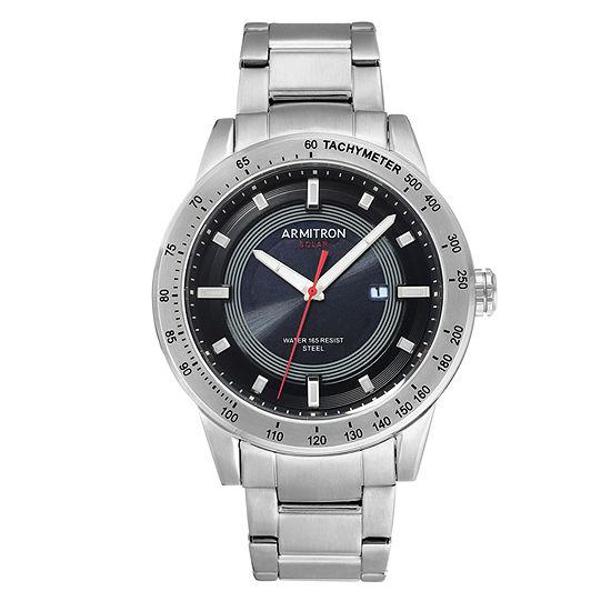 Armitron Mens Silver Tone Bracelet Watch 20 5288bksv