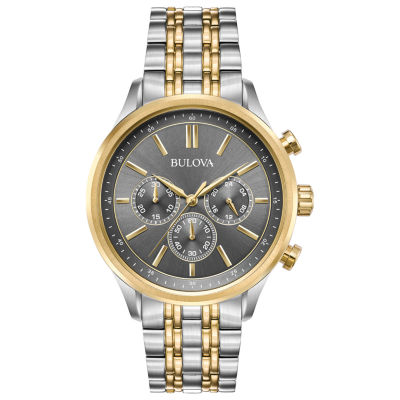 Bulova Mens Two Tone Bracelet Watch-98a215