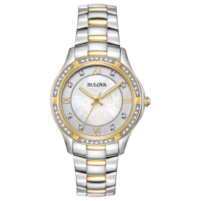 Bulova Womens Two Tone Bracelet Watch-98l255