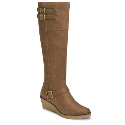 A2 by Aerosoles Womens Riding Wedge Heel Zip Boots