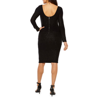 Premier Amour Long Sleeve Pattern Sheath Dress