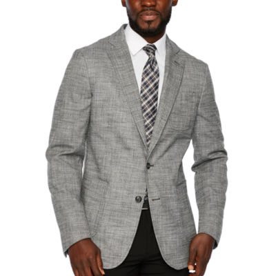 Stafford Merino Flannel Stretch Micro Houndstooth Classic Fit Sport Coat