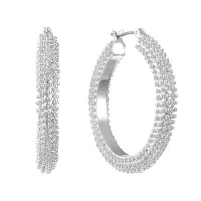 Gloria Vanderbilt 35.6mm Hoop Earrings