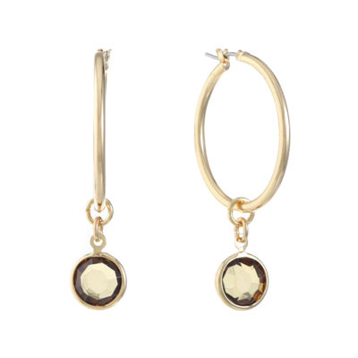 Gloria Vanderbilt 30.8mm Hoop Earrings