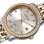 August Steiner Womens Diamond Accent Two Tone Bracelet Watch-As-8262ttg
