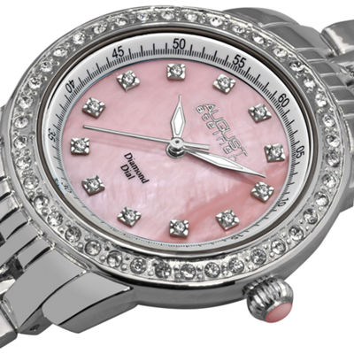 August Steiner Womens Silver Tone Strap Watch-As-8045pk