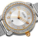 August Steiner Womens Silver Tone Stainless Steel Bracelet Watch-As-8192ssg