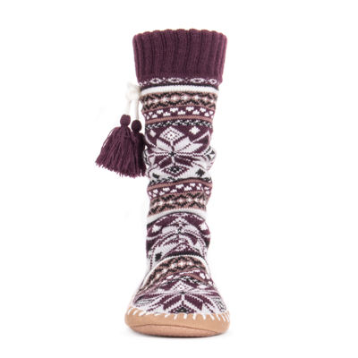 Muk Luks Womens Slipper Socks With Tassels 1 Pair Slipper Socks - Womens