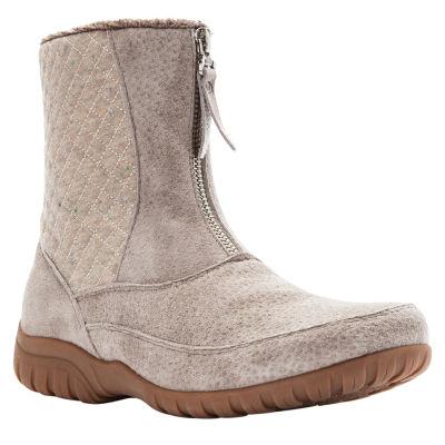 Propet Womens Delaney Mid Chukka Flat Heel Zip Boots