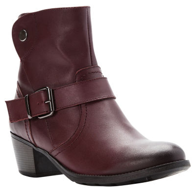 Propet Womens Tory Dress Boots Stacked Heel Zip