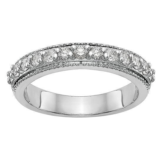 3.5MM 3/8 CT. T.W. Genuine White Diamond 14K White Gold Wedding Band