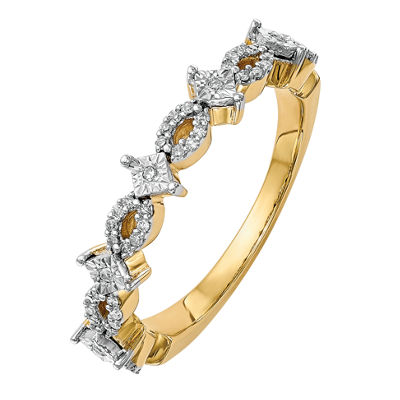 Womens 3mm 1/6 CT. T.W. White Diamond 14K Gold Wedding Band