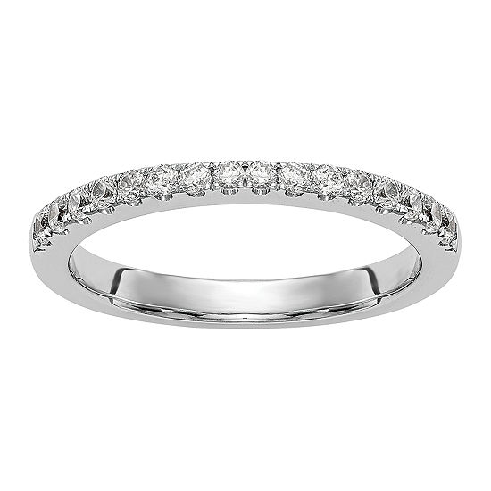 2.5MM 1/3 CT. T.W. Genuine White Diamond 14K White Gold Wedding Band