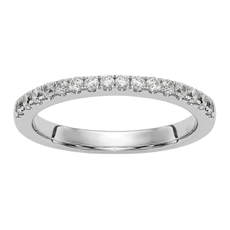 image of Womens 2.5mm 1/3 CT. T.W. White Diamond 14K White Gold Wedding Band