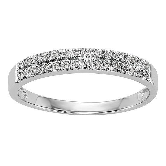 3MM 1/8 CT. T.W. Genuine White Diamond 14K White Gold Wedding Band