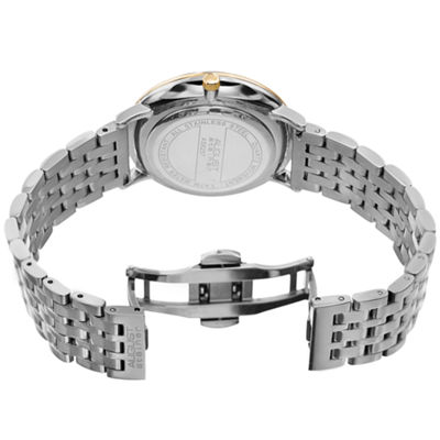 August Steiner Mens Silver Tone Strap Watch-As-8257ttg