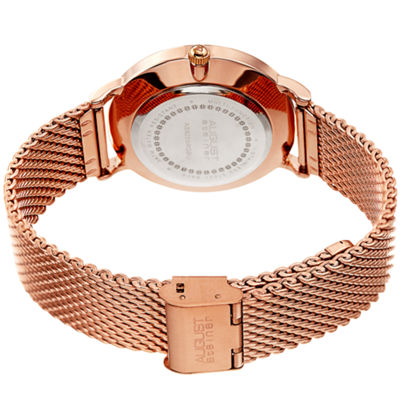 August Steiner Mens Rose Goldtone Strap Watch-As-8255rgbu