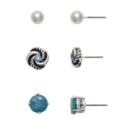 Sensitive Ears 3 Pair Copper Earring Set
