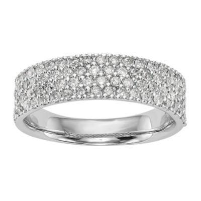 Womens 5.5mm 5/8 CT. T.W. White Diamond 14K White Gold Wedding Band