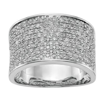 Womens 11M 1 CT. T.W. White Diamond 14K White Gold Wedding Band