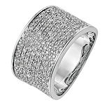 Womens 11M 1 CT. T.W. Genuine White Diamond 14K White Gold Wedding Band