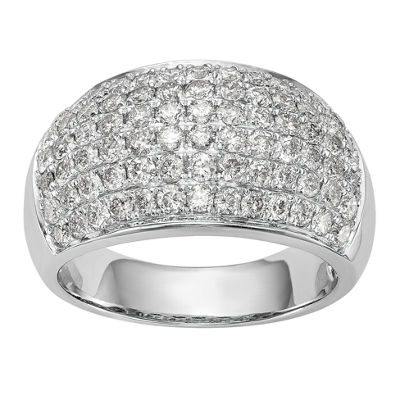 Womens 11M 1 3/4 CT. T.W. White Diamond 14K White Gold Wedding Band