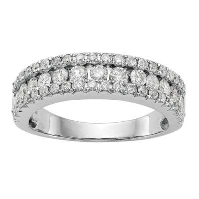 Womens 5.5mm 1 CT. T.W. White Diamond 14K White Gold Wedding Band
