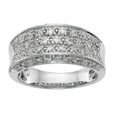 Womens 2.5mm 1/8 CT. T.W. White Diamond 14K White Gold Wedding Band