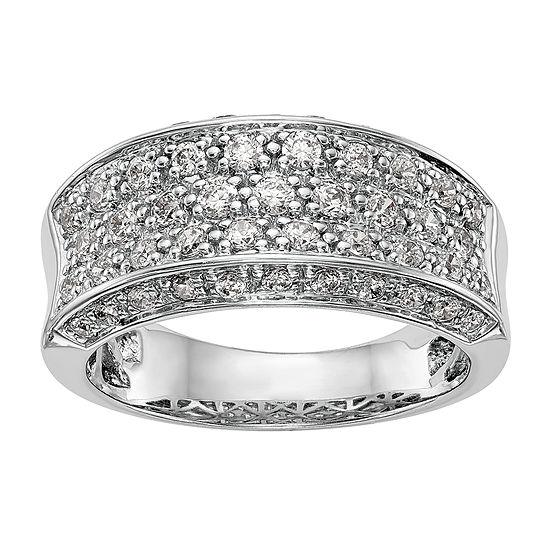 10MM 7/8 CT. T.W. Genuine White Diamond 14K White Gold Wedding Band
