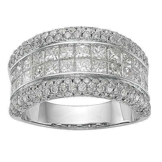 Womens 2 7/8 CT. T.W. Diamond 14K White Gold 11mm Wedding Band