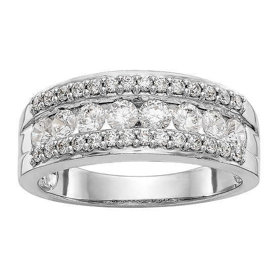 2.5MM 7/8 CT. T.W. Genuine White Diamond 14K White Gold Wedding Band