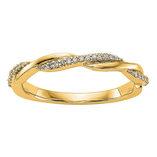 3MM 1/8 CT. T.W. Genuine White Diamond 14K Gold Wedding Band