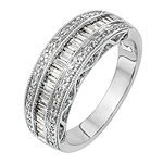 7MM 3/4 CT. T.W. Genuine White Diamond 14K White Gold Wedding Band
