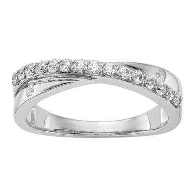 Womens 2.5mm 1/3 CT. T.W. White Diamond 14K White Gold Wedding Band