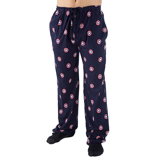 Mens Big Captain America Pajama Pants
