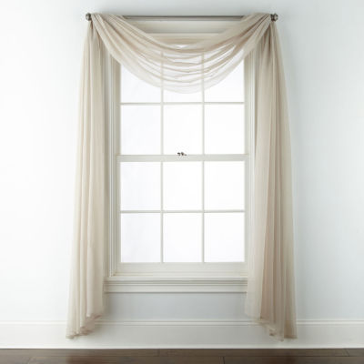 Home Expressions Lisette Sheer Scarf Valance
