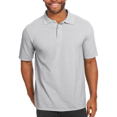 Hanes Mens Short Sleeve Polo Shirt