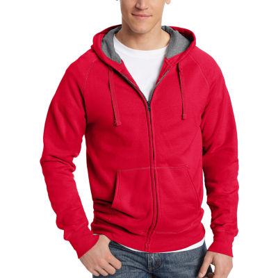 Hanes Mens Hooded Neck Long Sleeve Sweatshirt