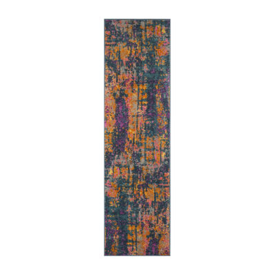Safavieh Madison Collection Jarvis Abstract Runner Rug