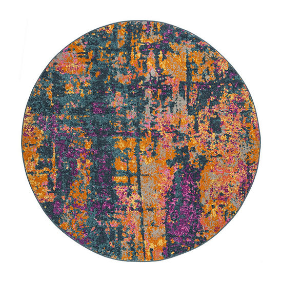 Safavieh Madison Collection Jarvis Abstract Round Area Rug