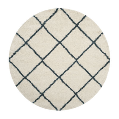 Safavieh Hudson Shag Collection Salome Geometric Round Area Rug