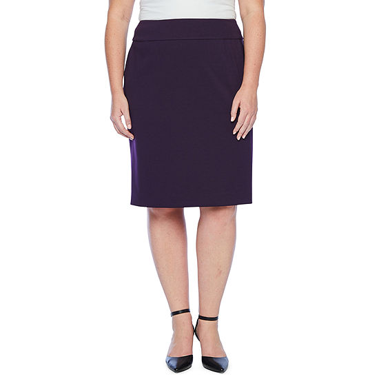 Black Label by Evan-Picone Suit Skirt-Plus