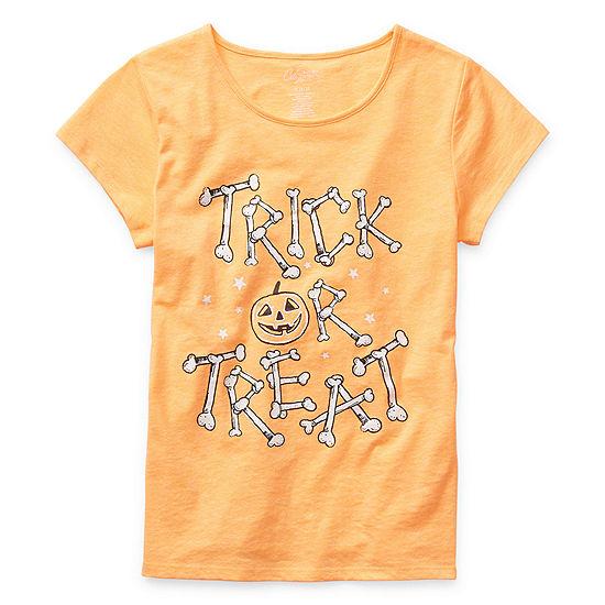 City Streets Girls Crew Neck Short Sleeve Graphic T-Shirt - Little Kid / Big Kid