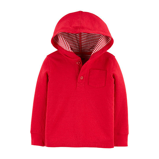 Oshkosh Boys Hooded Neck Long Sleeve T-Shirt-Toddler