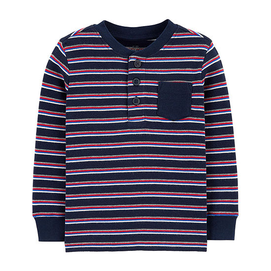 Oshkosh Boys Long Sleeve Henley Shirt - Toddler