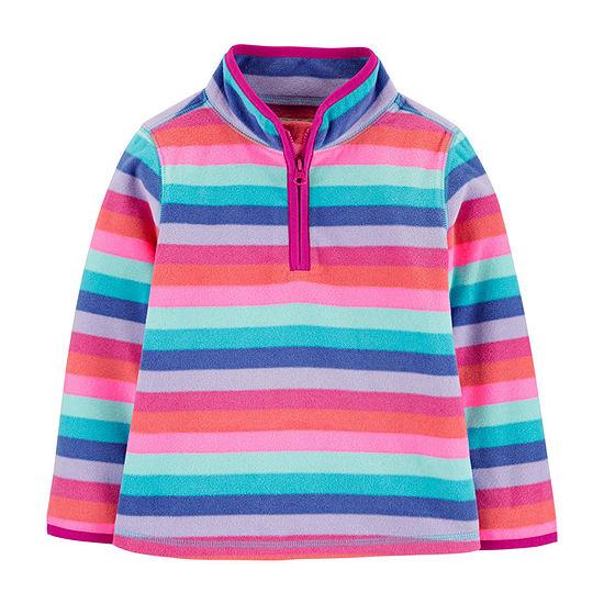 Oshkosh Girls High Neck Long Sleeve Sweatshirt - Toddler