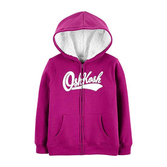 Oshkosh Girls Hooded Neck Long Sleeve Sweatshirt Preschool / Big Kid
