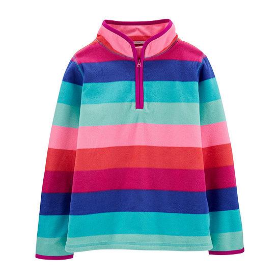 Oshkosh Girls High Neck Long Sleeve Sweatshirt Preschool / Big Kid
