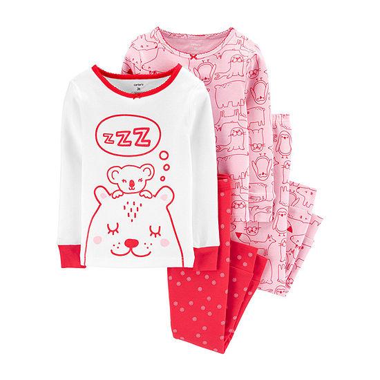 Carter's Girls 4-pc. Pajama Set Baby