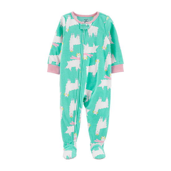 Carter's Girls Microfleece Long Sleeve One Piece Pajama